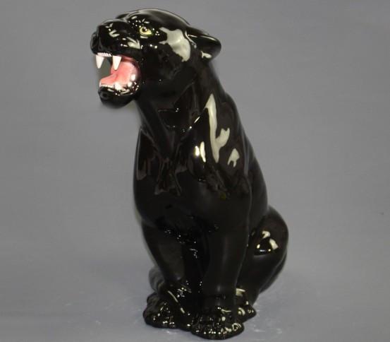 Ceramic black panther