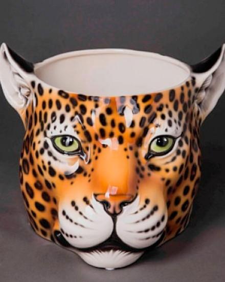 Leopard flower pot