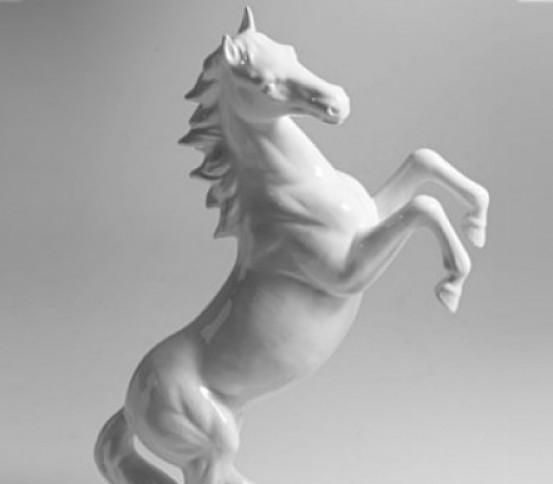 White horse erected