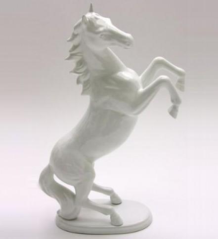 Erected white Horse