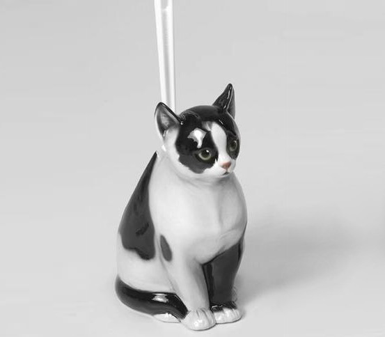 Katze Bürstenhalter