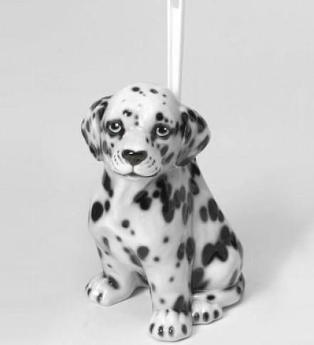 Dalmatian brush holder