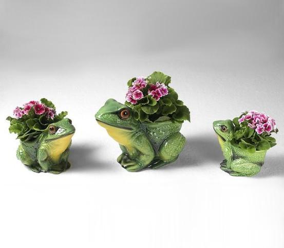 Set von 3 Frösche Vasen