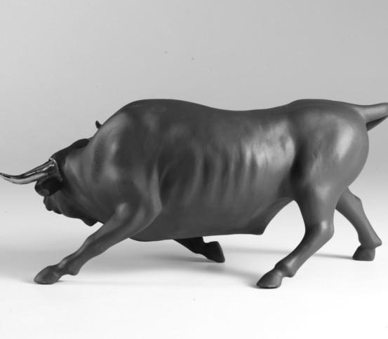 Matte black bull