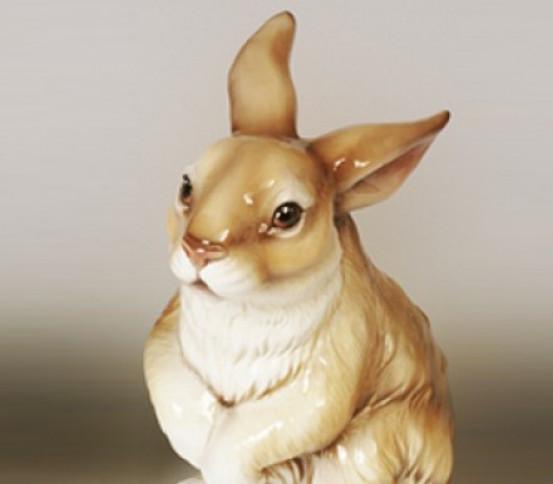 Brush holder rabbit