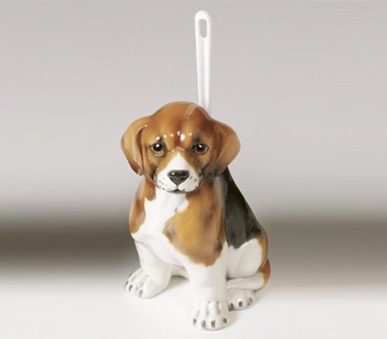 WC brush holder Beagle