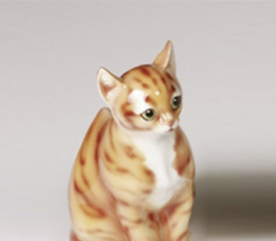 WC brush holder cat