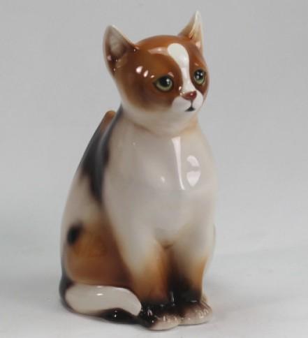 Three-colour-cat WC brush holder