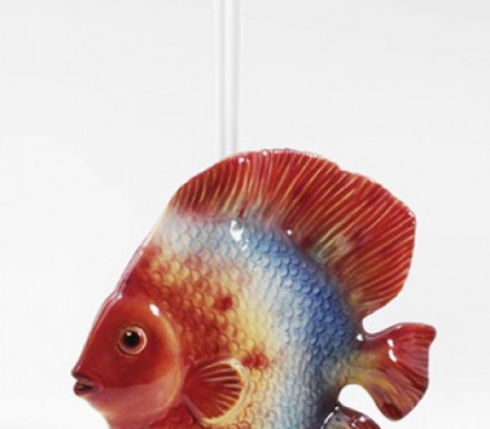 WC brush holder Discus fish