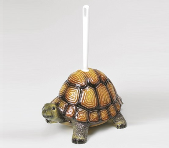 WC brush holder Turtle