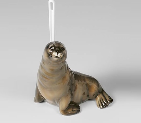 WC brush holder grey Seal
