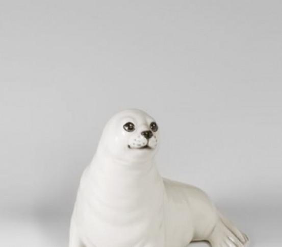 WC brush holder white Seal