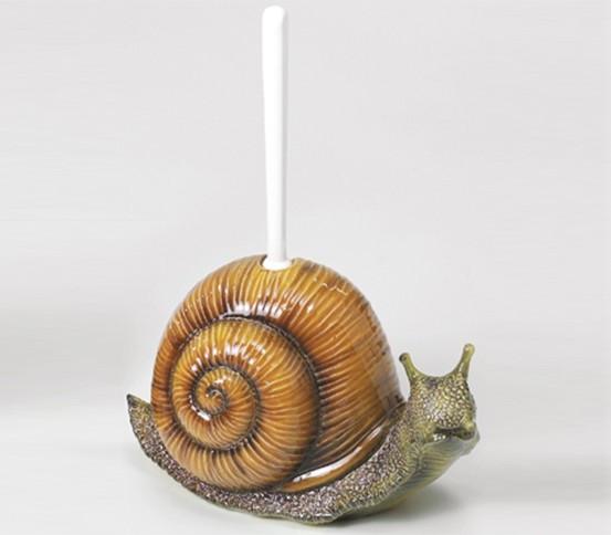 WC brush holder Snail