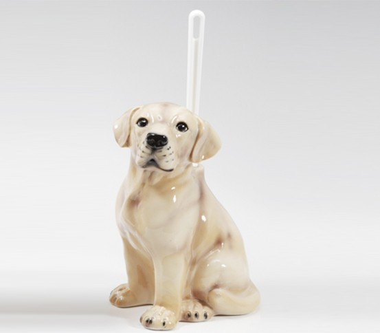 WC brush holder Labrador