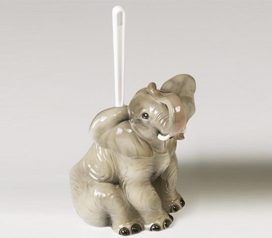 WC brush holder Elephant