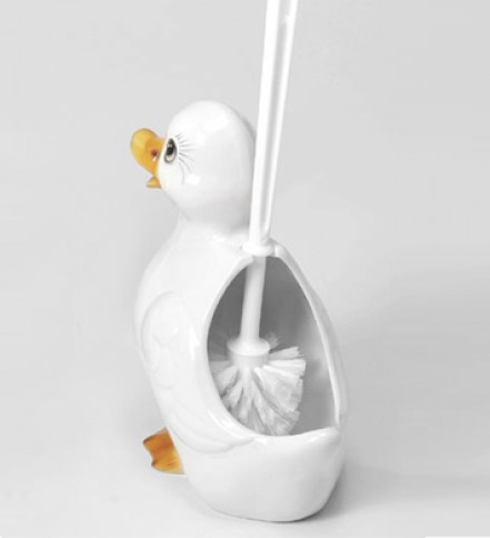WC brush holder white Duck